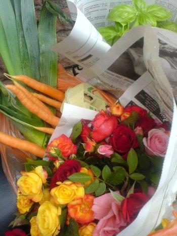 rosen frisch vom markt